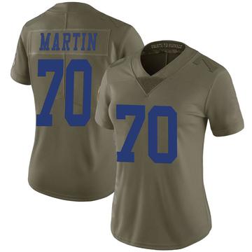 Women's Nike Dallas Cowboys Zack Martin Green 2017 Salute to Service Jersey - Limited