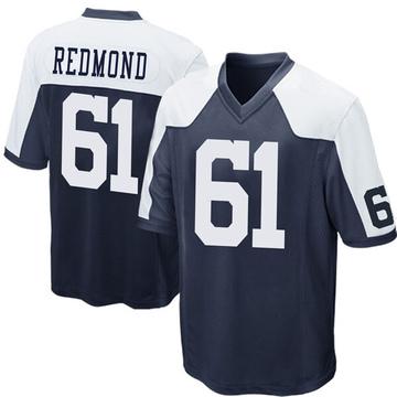 Youth Nike Dallas Cowboys Adam Redmond Navy Blue Throwback Jersey - Game