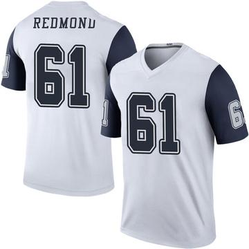 Youth Nike Dallas Cowboys Adam Redmond White Color Rush Jersey - Legend