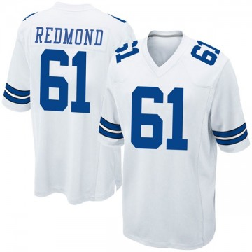 Youth Nike Dallas Cowboys Adam Redmond White Jersey - Game