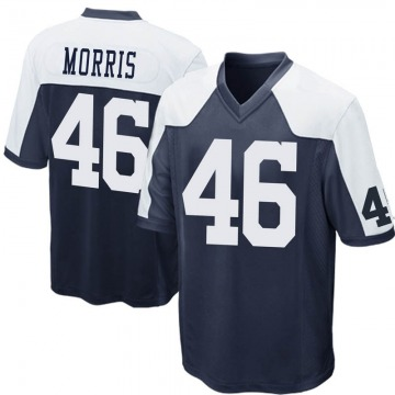 Youth Nike Dallas Cowboys Alfred Morris Navy Blue Throwback Jersey - Game