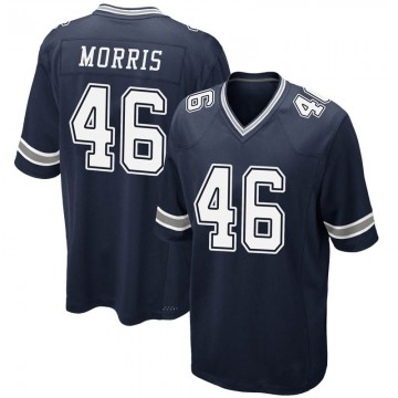 Youth Nike Dallas Cowboys Alfred Morris Navy Team Color Jersey - Game