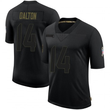 Youth Nike Dallas Cowboys Andy Dalton Black 2020 Salute To Service Jersey - Limited