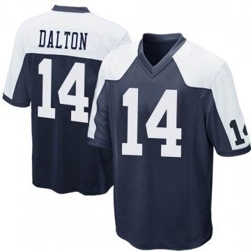 Youth Nike Dallas Cowboys Andy Dalton Navy Blue Throwback Jersey - Game