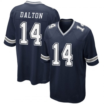 Youth Nike Dallas Cowboys Andy Dalton Navy Team Color Jersey - Game