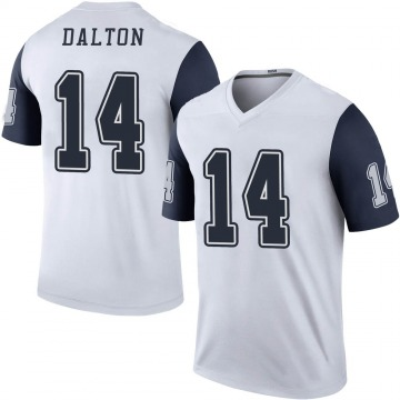 Youth Nike Dallas Cowboys Andy Dalton White Color Rush Jersey - Legend