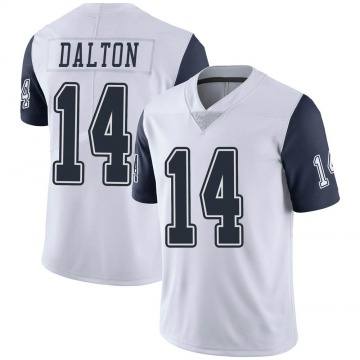 Youth Nike Dallas Cowboys Andy Dalton White Color Rush Vapor Untouchable Jersey - Limited