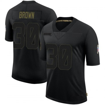 Youth Nike Dallas Cowboys Anthony Brown Black 2020 Salute To Service Jersey - Limited