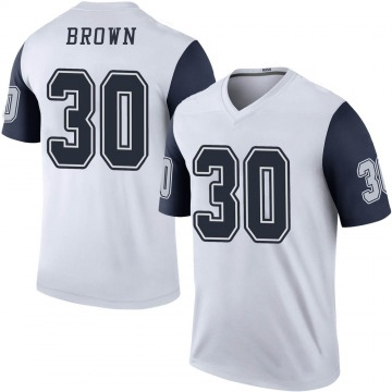 Youth Nike Dallas Cowboys Anthony Brown White Color Rush Jersey - Legend