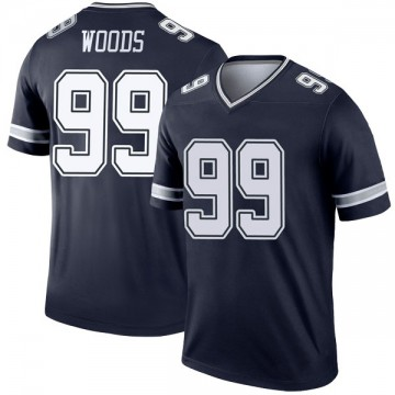 Youth Nike Dallas Cowboys Antwaun Woods Navy Jersey - Legend