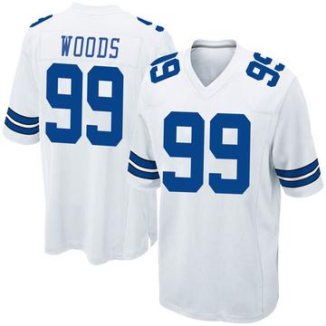 Youth Nike Dallas Cowboys Antwaun Woods White Jersey - Game