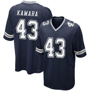 Youth Nike Dallas Cowboys Azur Kamara Navy Team Color Jersey - Game