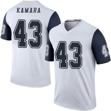 Youth Nike Dallas Cowboys Azur Kamara White Color Rush Jersey - Legend