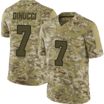 Youth Nike Dallas Cowboys Ben DiNucci Camo 2018 Salute to Service Jersey - Limited