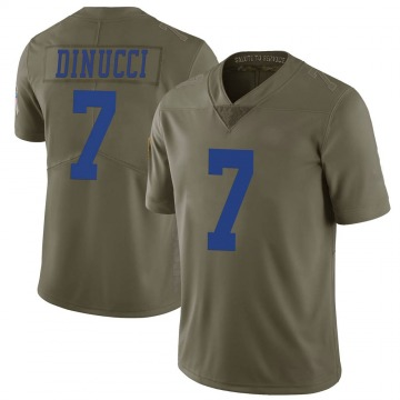 Youth Nike Dallas Cowboys Ben DiNucci Green 2017 Salute to Service Jersey - Limited