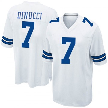 Youth Nike Dallas Cowboys Ben DiNucci White Jersey - Game
