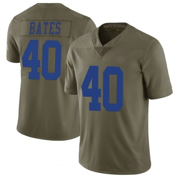 Youth Nike Dallas Cowboys Bill Bates Green 2017 Salute to Service Jersey - Limited