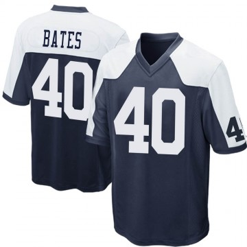 Youth Nike Dallas Cowboys Bill Bates Navy Blue Throwback Jersey - Game