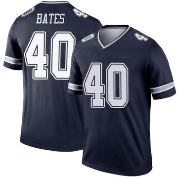 Youth Nike Dallas Cowboys Bill Bates Navy Jersey - Legend