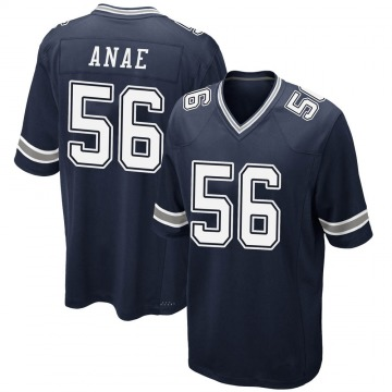 Youth Nike Dallas Cowboys Bradlee Anae Navy Team Color Jersey - Game