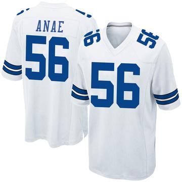Youth Nike Dallas Cowboys Bradlee Anae White Jersey - Game