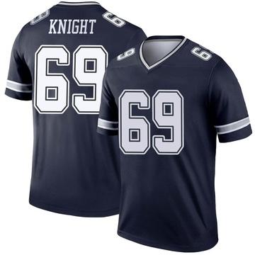 Youth Nike Dallas Cowboys Brandon Knight Navy Jersey - Legend