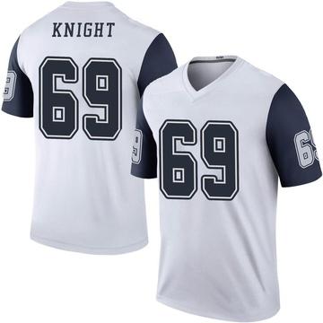 Youth Nike Dallas Cowboys Brandon Knight White Color Rush Jersey - Legend