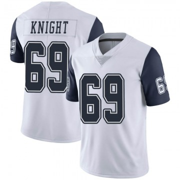 Youth Nike Dallas Cowboys Brandon Knight White Color Rush Vapor Untouchable Jersey - Limited