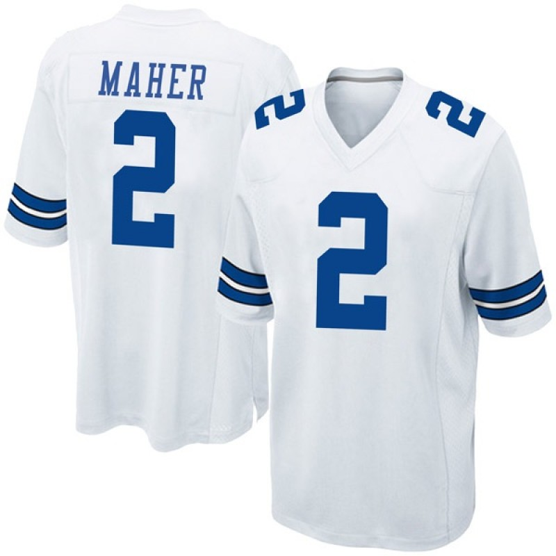 the latest 9b50f 65700 Youth Nike Dallas Cowboys Brett Maher White Jersey - Game