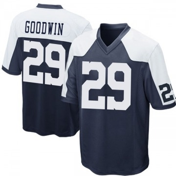 Youth Nike Dallas Cowboys C.J. Goodwin Navy Blue Throwback Jersey - Game