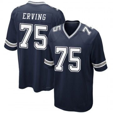 Youth Nike Dallas Cowboys Cameron Erving Navy Team Color Jersey - Game
