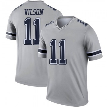 Youth Nike Dallas Cowboys Cedrick Wilson Gray Inverted Jersey - Legend