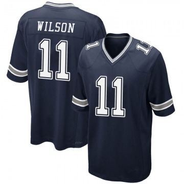 Youth Nike Dallas Cowboys Cedrick Wilson Navy Team Color Jersey - Game
