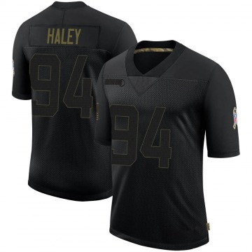 Youth Nike Dallas Cowboys Charles Haley Black 2020 Salute To Service Jersey - Limited