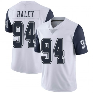 Youth Nike Dallas Cowboys Charles Haley White Color Rush Vapor Untouchable Jersey - Limited