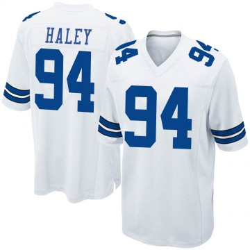 Youth Nike Dallas Cowboys Charles Haley White Jersey - Game