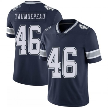 Youth Nike Dallas Cowboys Charlie Taumoepeau Navy 100th Vapor Jersey - Limited