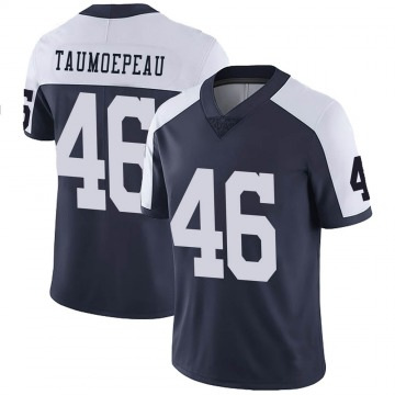 Youth Nike Dallas Cowboys Charlie Taumoepeau Navy Alternate Vapor Untouchable Jersey - Limited