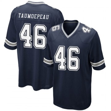 Youth Nike Dallas Cowboys Charlie Taumoepeau Navy Team Color Jersey - Game