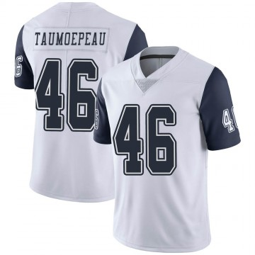 Youth Nike Dallas Cowboys Charlie Taumoepeau White Color Rush Vapor Untouchable Jersey - Limited