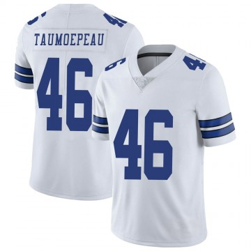 Youth Nike Dallas Cowboys Charlie Taumoepeau White Vapor Untouchable Jersey - Limited