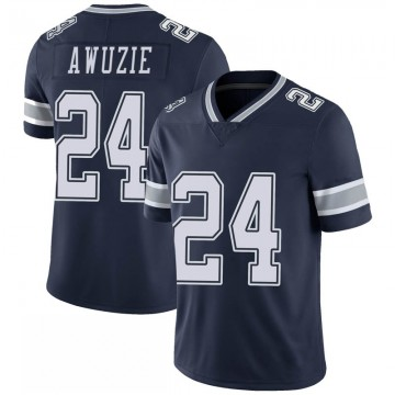 Youth Nike Dallas Cowboys Chidobe Awuzie Navy 100th Vapor Jersey - Limited