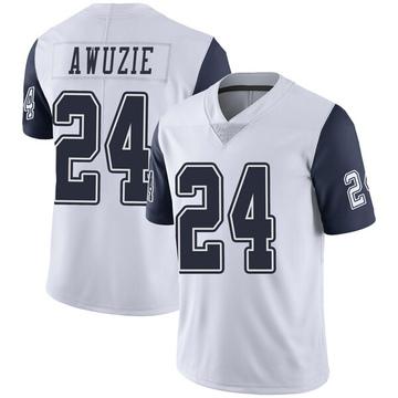 Youth Nike Dallas Cowboys Chidobe Awuzie White Color Rush Vapor Untouchable Jersey - Limited