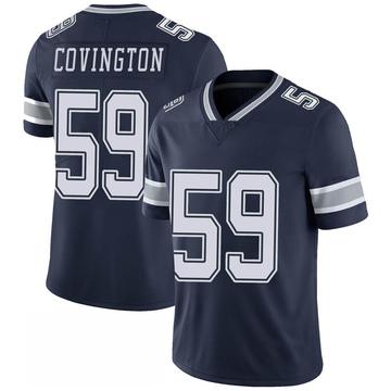 Youth Nike Dallas Cowboys Chris Covington Navy 100th Vapor Jersey - Limited