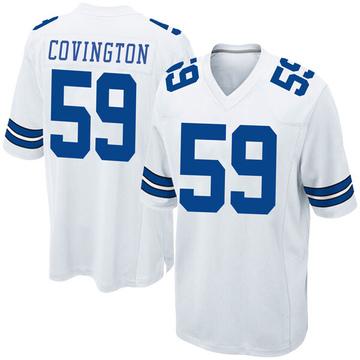 Youth Nike Dallas Cowboys Chris Covington White Jersey - Game