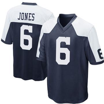 Youth Nike Dallas Cowboys Chris Jones Navy Blue Throwback Jersey - Game