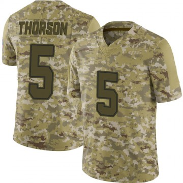Youth Nike Dallas Cowboys Clayton Thorson Camo 2018 Salute to Service Jersey - Limited