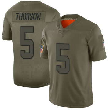Youth Nike Dallas Cowboys Clayton Thorson Camo 2019 Salute to Service Jersey - Limited