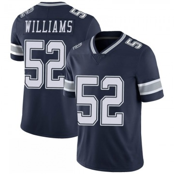 Youth Nike Dallas Cowboys Connor Williams Navy 100th Vapor Jersey - Limited