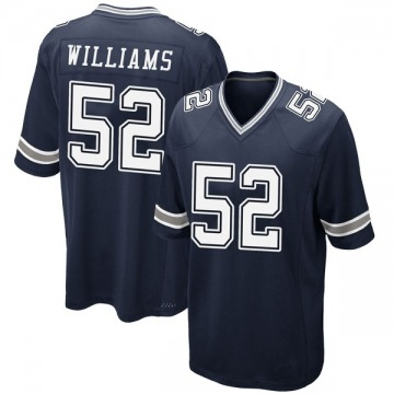 Youth Nike Dallas Cowboys Connor Williams Navy Team Color Jersey - Game